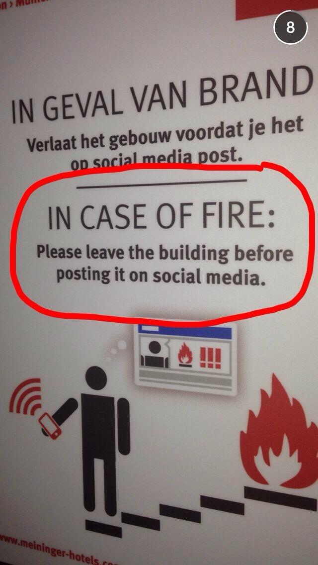The Advice from Safety Conscious emergency,Social Media,craze