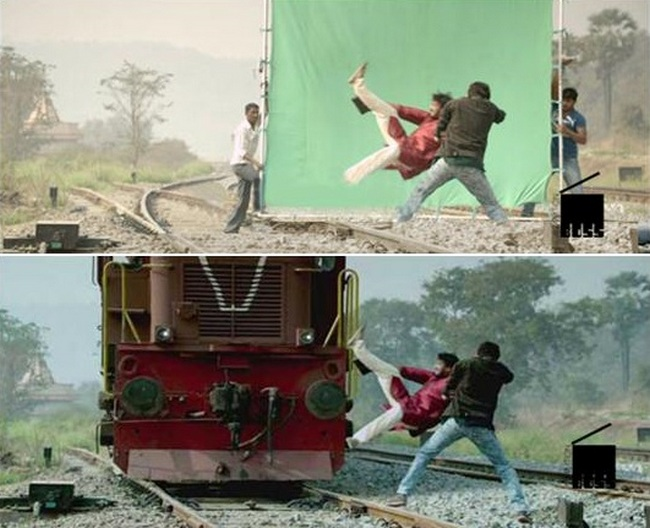The Reality of Mind Blowing Scenes to Show you Before and After Visual Effects Showbiz,film production
