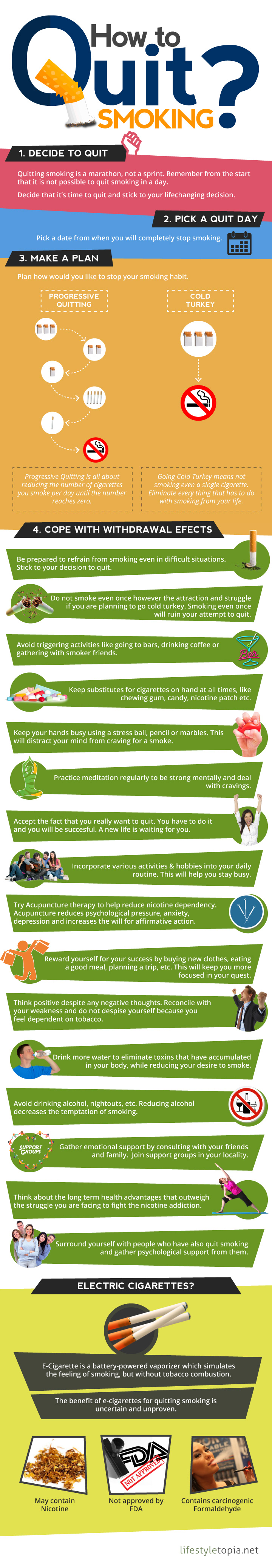How to Quit Smoking smoking,tobacco,quit,tips,cigarette,infographic