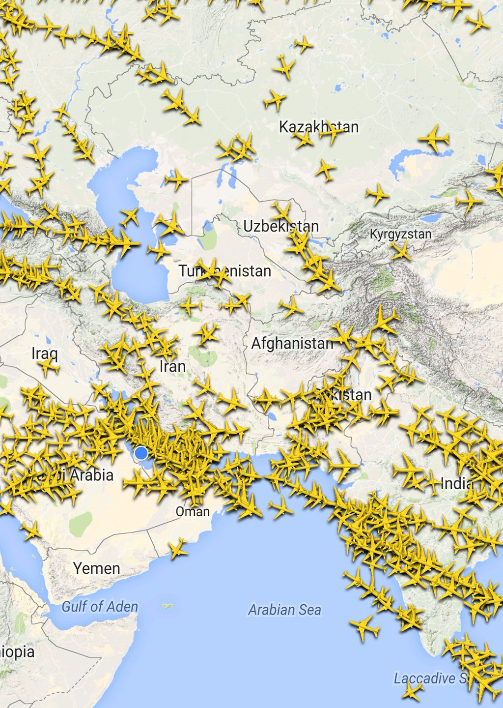 The Sky is Full of Planes ✈ Right Now plane,traffic,tracking,aviation,sky,air traffic control,satellite,map
